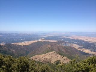 View from top of our climb up Mt Diablo