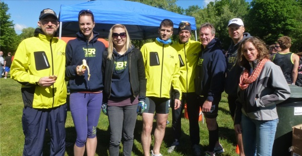 Clays Park Triathlon Jason,Colleen,Emily,Alex,Mark,Henry,Paul L. Julie