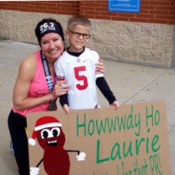 Laurie and Max J....Akron Marathon