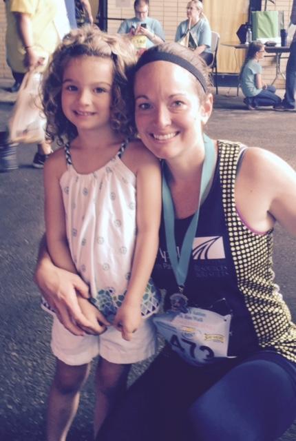 Gretchen and daughter Gwen Akron Autism 5k
