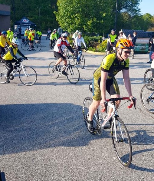 CARLO, leaving Life Center Plus to begin Ride of Silence