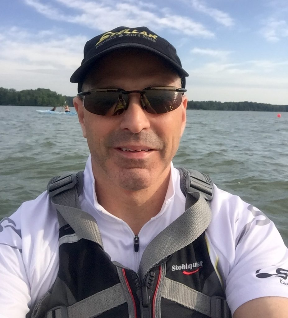 Scott..Kayak water support Western Reserve Olympic and Sprint Tri